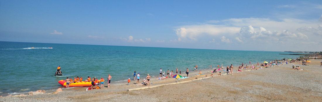 Пляж поселке Песчаное Крым